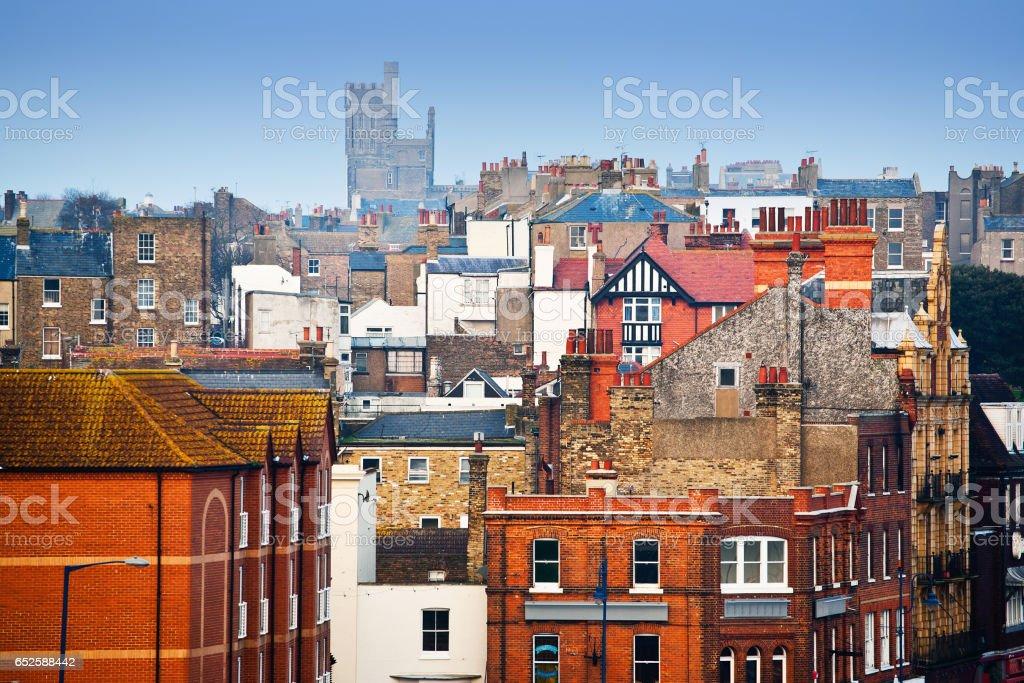 Traditional british neighborhood stock photo