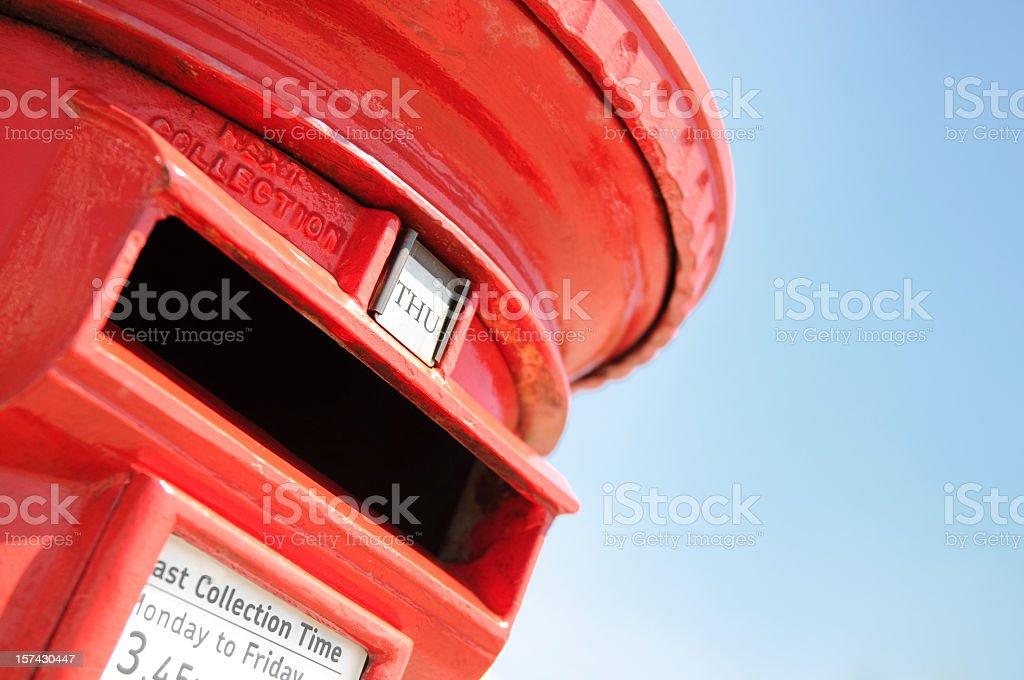 Traditional British Postbox stock photo