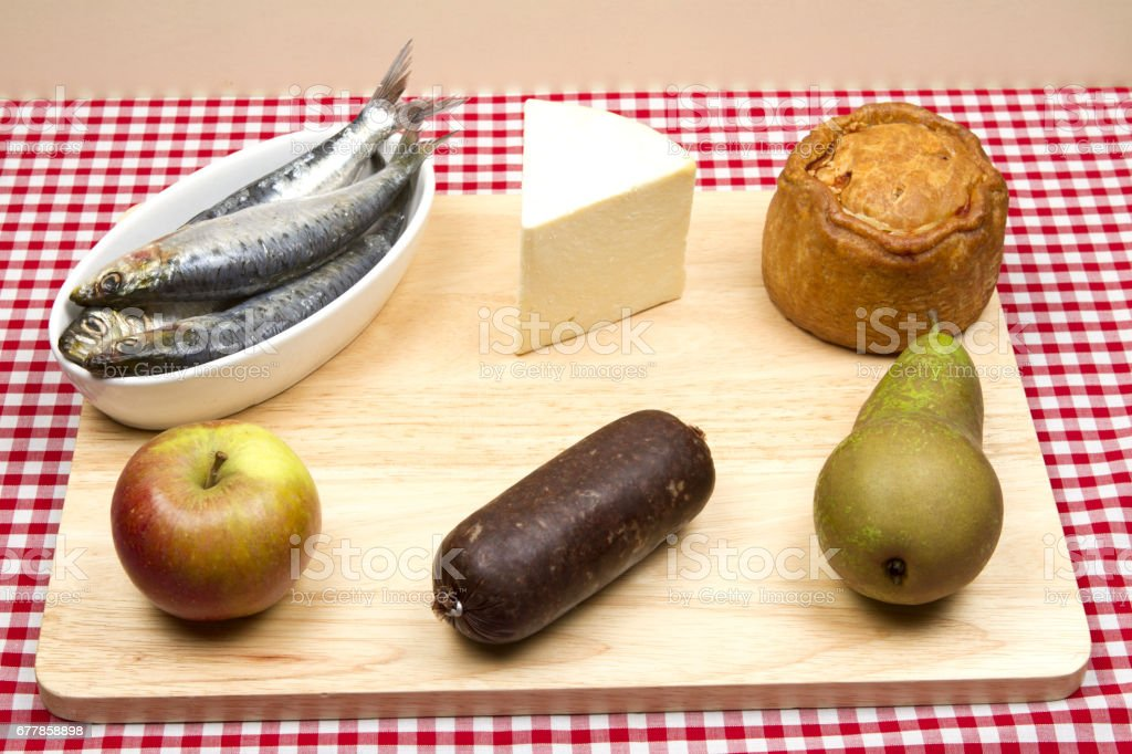 Traditional Britsh foods royalty-free stock photo