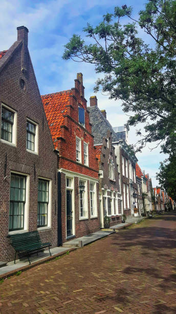 Traditional building in Volendam Holland stock photo