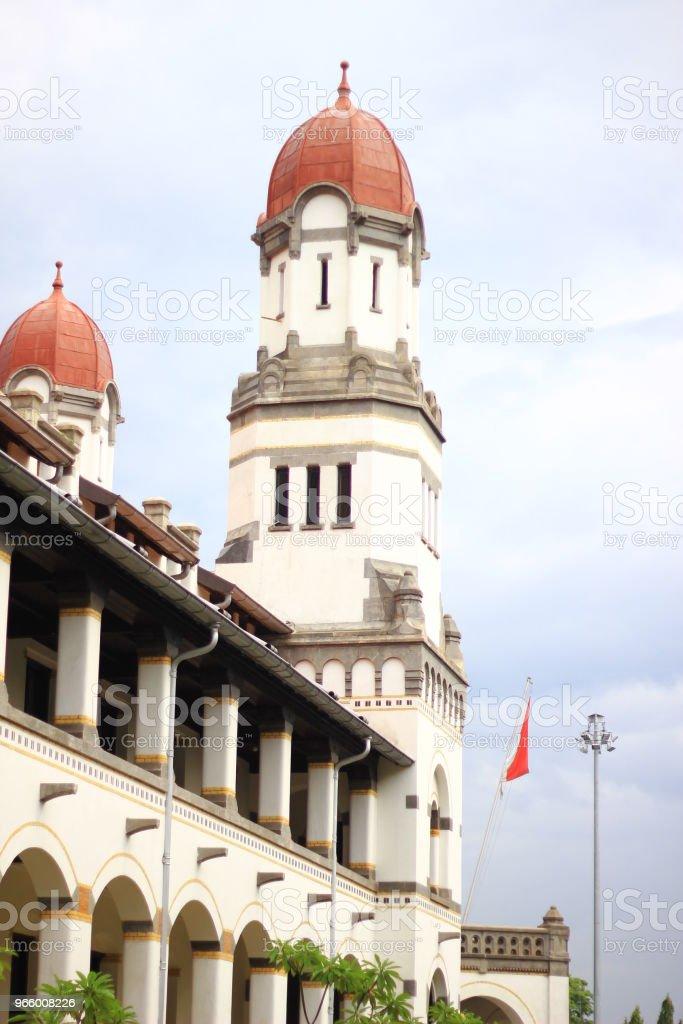 Traditionell byggnad Lawang Sewu Semarang Indonesien - Royaltyfri Bygga Bildbanksbilder