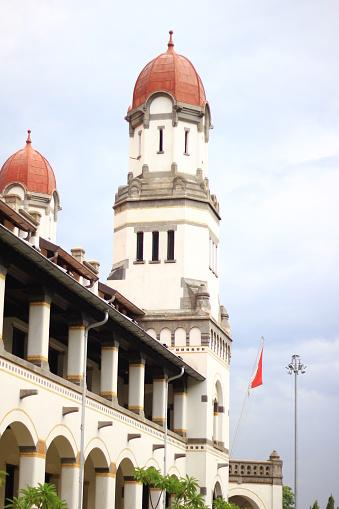 Traditioneel Gebouw Lawang Sewu Semarang Indonesië Stockfoto en meer beelden van Bouwen