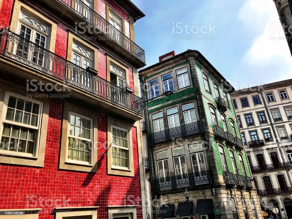 Traditionelles Gebäude, Porto, Portugal – Foto