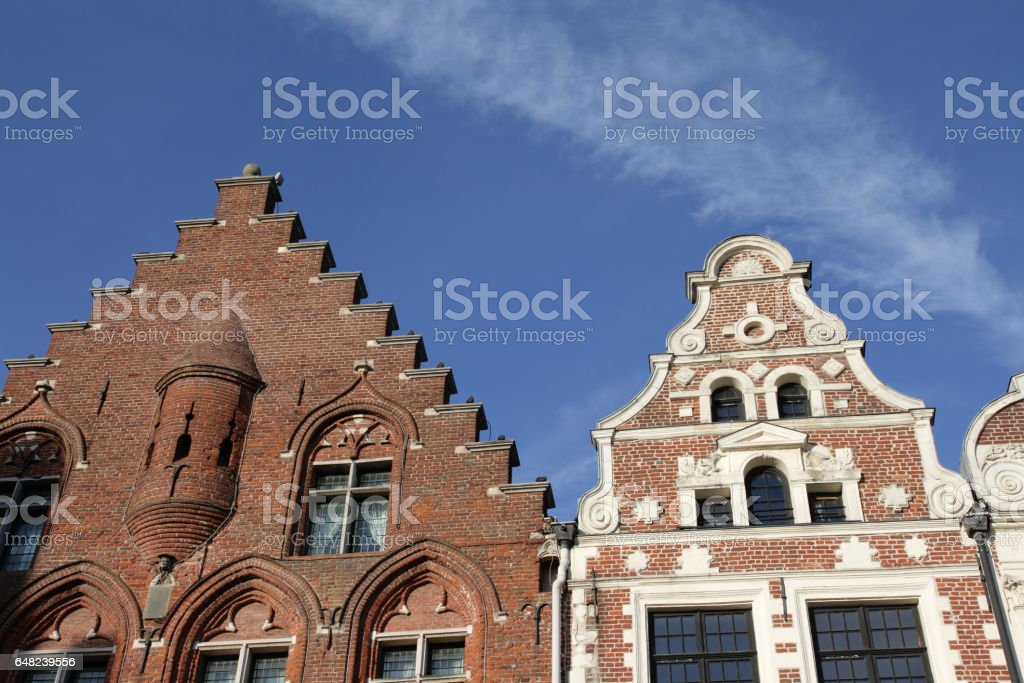 Traditional buildings in Arras ,France stock photo