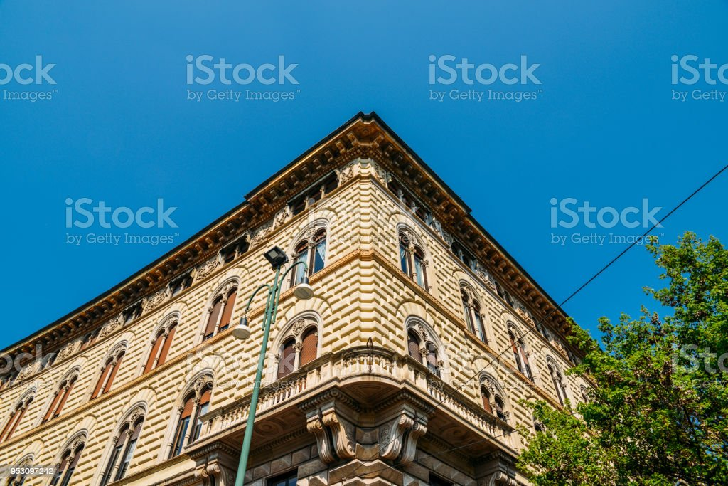 Traditional buildings in Milan, Lombardy, Italy - foto stock