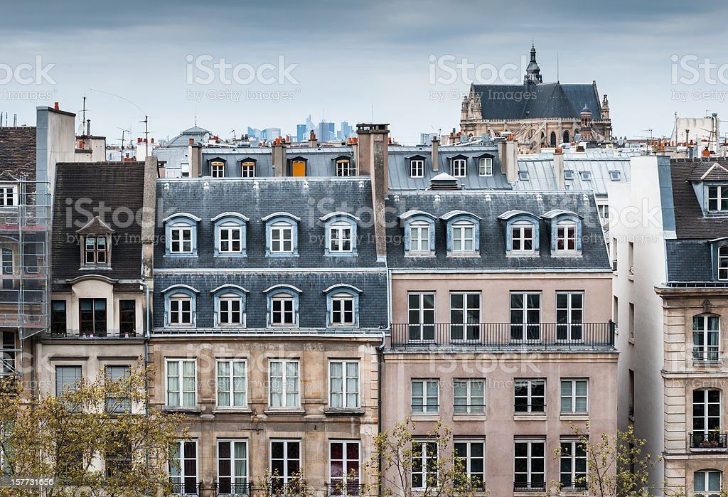 Traditional Buildings in Paris stock photo