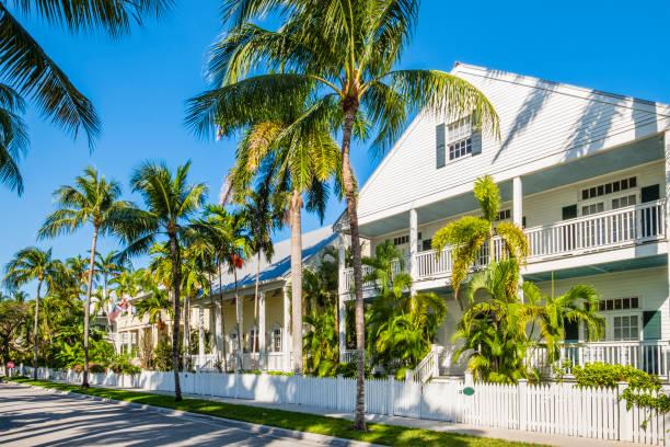 Traditional buildings of Key West - Florida Keys (US) stock photo
