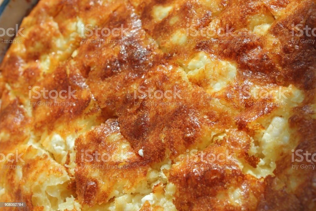 Traditional Bulgarian homemade Banitsa stock photo