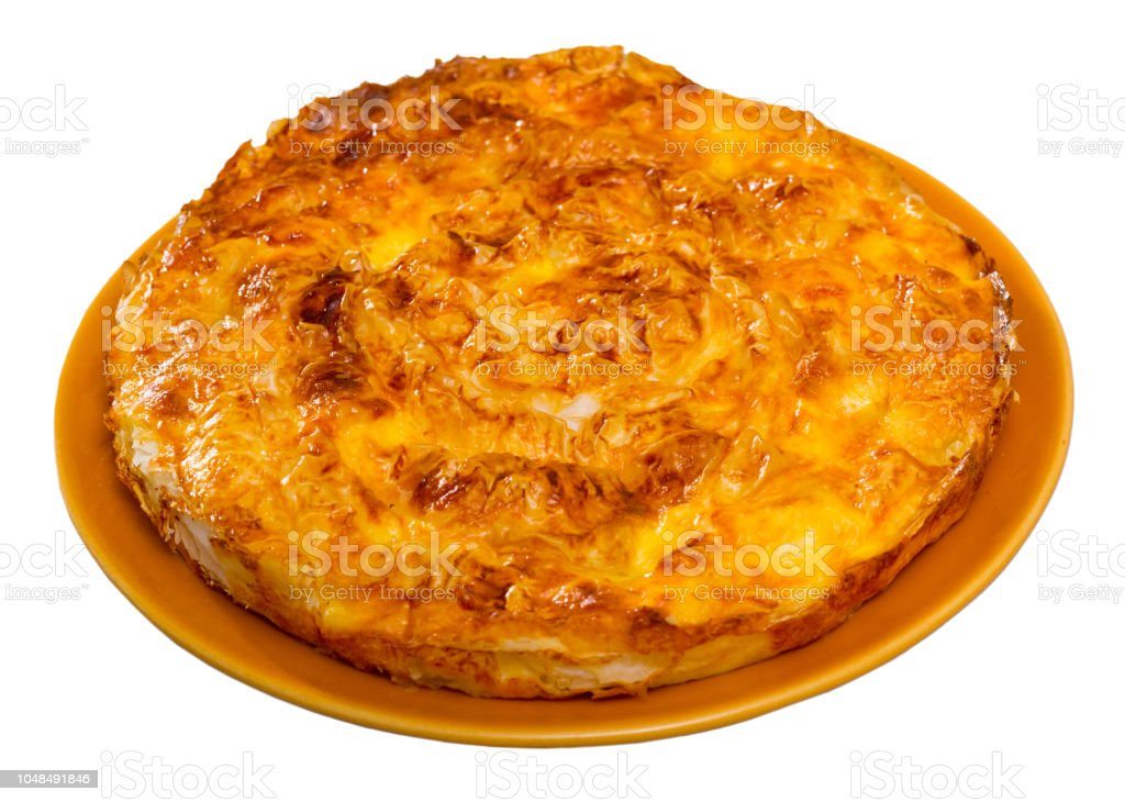 Traditional Bulgarian pie Banitsa stock photo