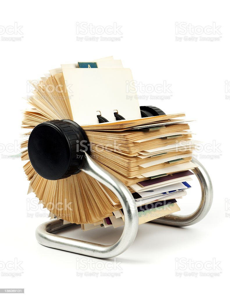 Traditional business card holder stock photo