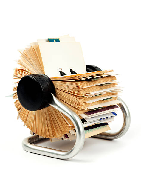 traditional business card holder - address book stock photos and pictures
