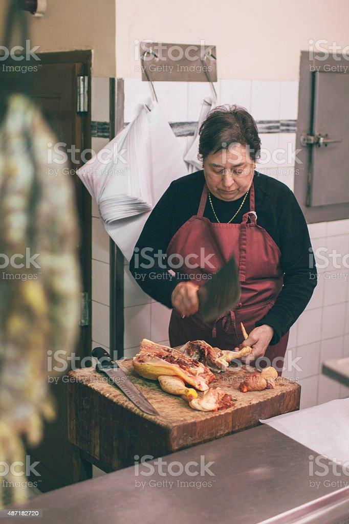 Traditionelle butcher shop – Foto