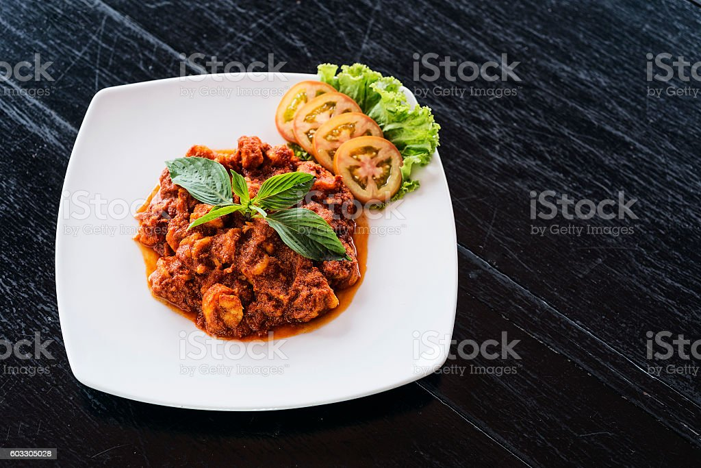 traditional cambodian spicy prawn amok curry stock photo
