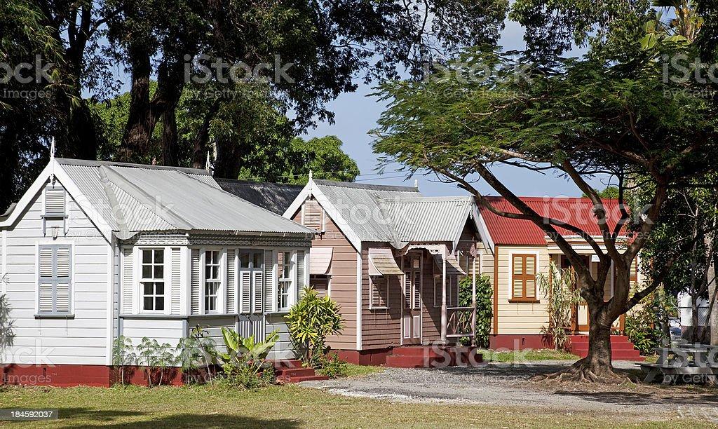 Traditionelle karibische Häuser, Barbados – Foto