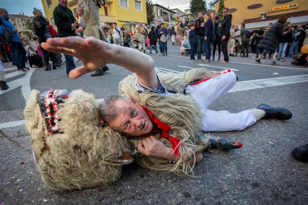 Traditional carnival parade stock photo