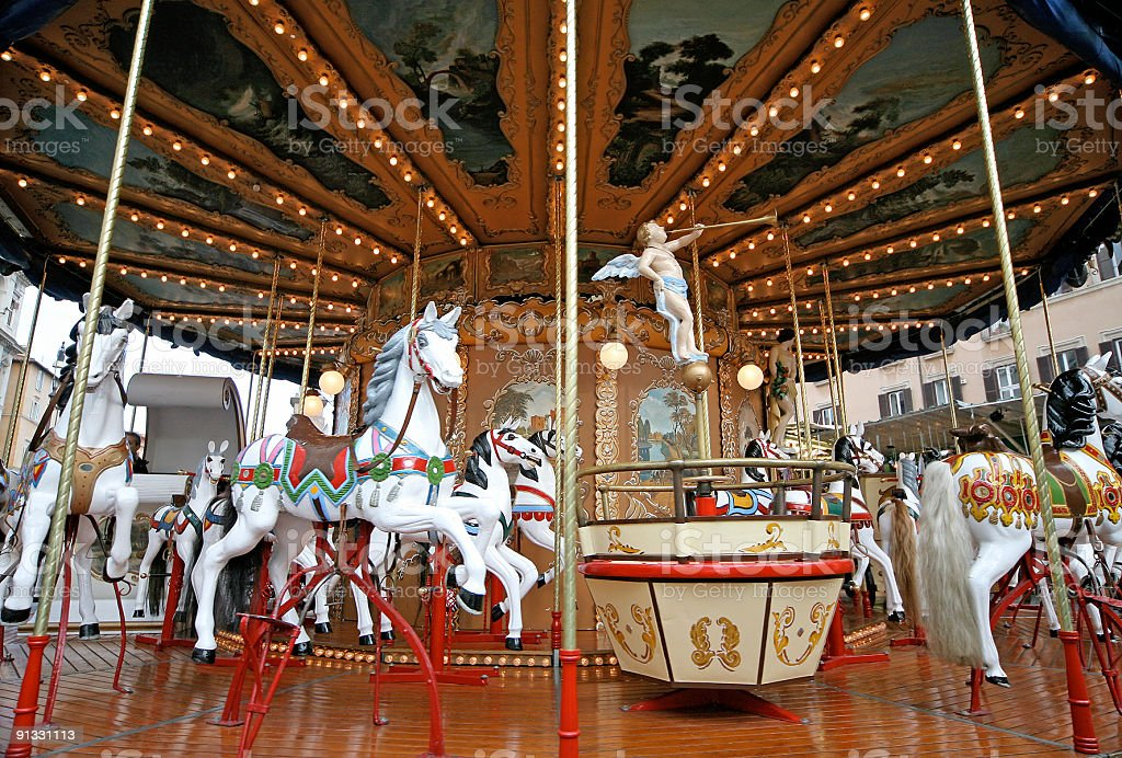 Traditional carousel royalty-free stock photo