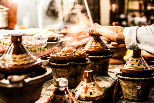 Traditional Casserole Dishes From Morocco Stock Photo - Download Image Now