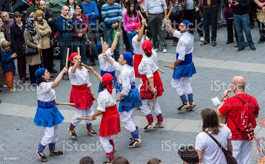 Traditional Catalan dance stock photo