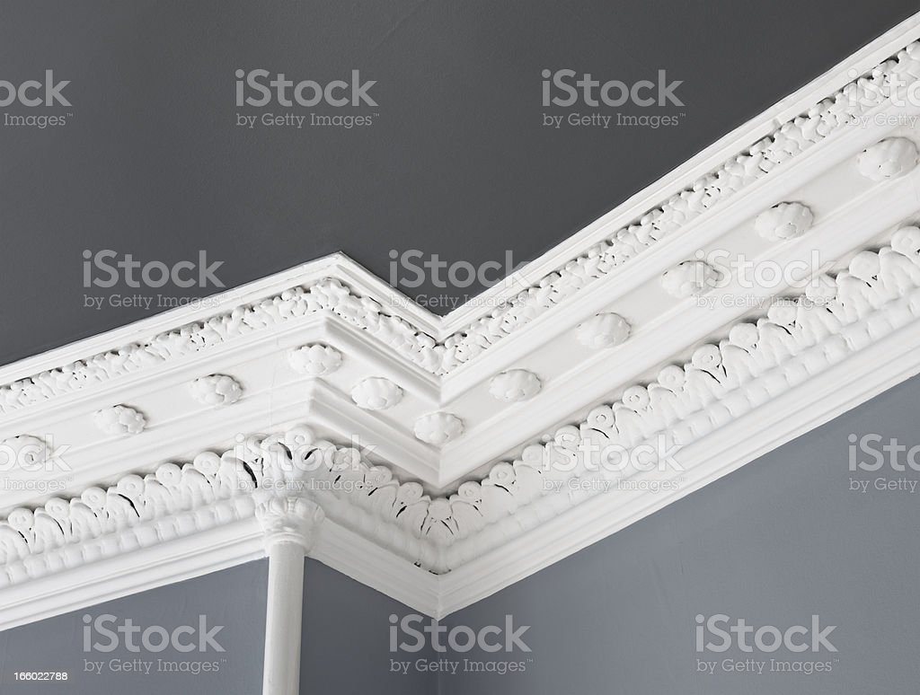 Traditional Ceiling Cornice Moulding stock photo