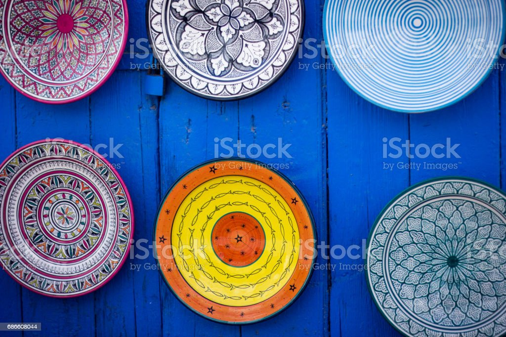 Traditional ceramic pottery in Morocco royalty-free stock photo