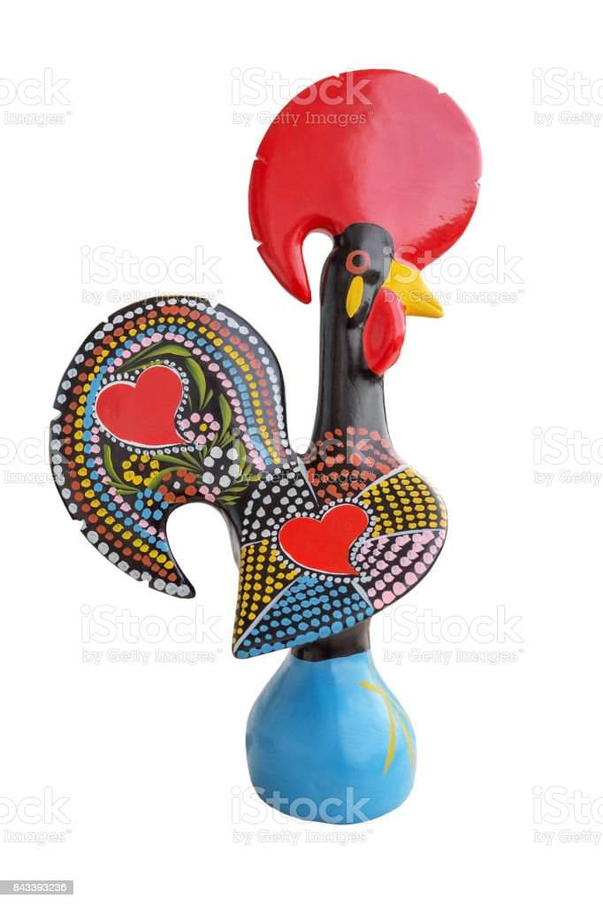 Traditional Ceramic Rooster - symbol of Portugal stock photo