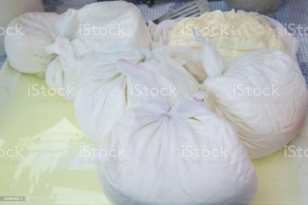 Traditionele kaasmakerij foto