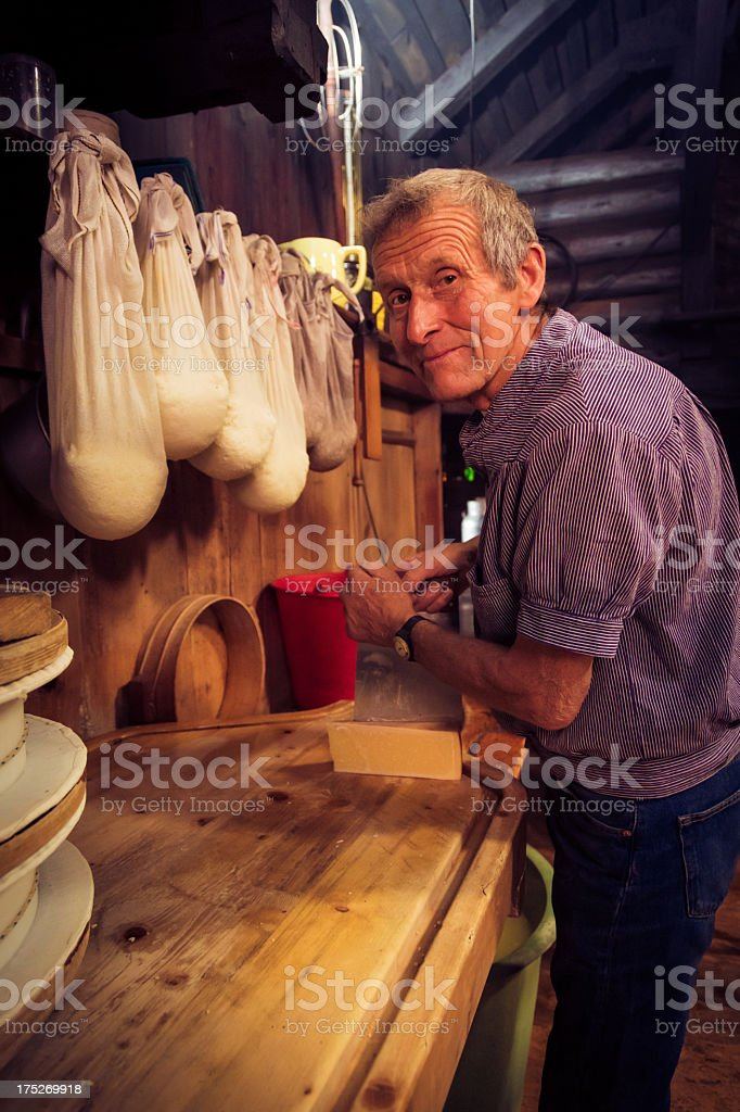 traditional cheesemaking royalty-free stock photo