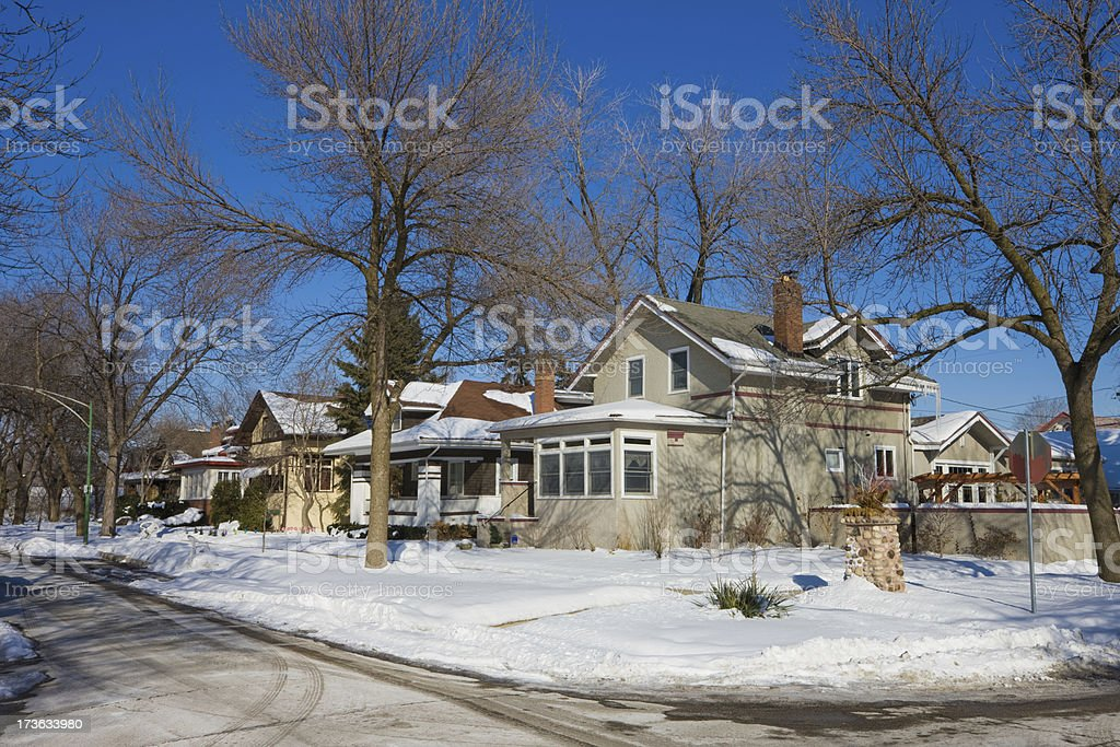 Traditional Chicago Edwardian Single Family Homes royalty-free stock photo