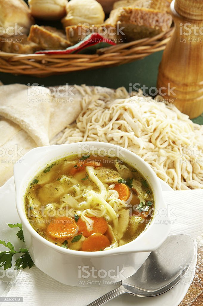 Traditional Chicken Noodle royalty free stockfoto