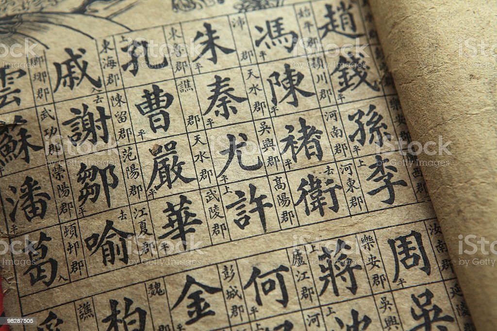 Traditional Chinese ancient books royalty-free stock photo