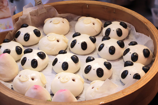 Traditional Chinese Animalshaped Mantou Buns Stock Photo - Download Image Now
