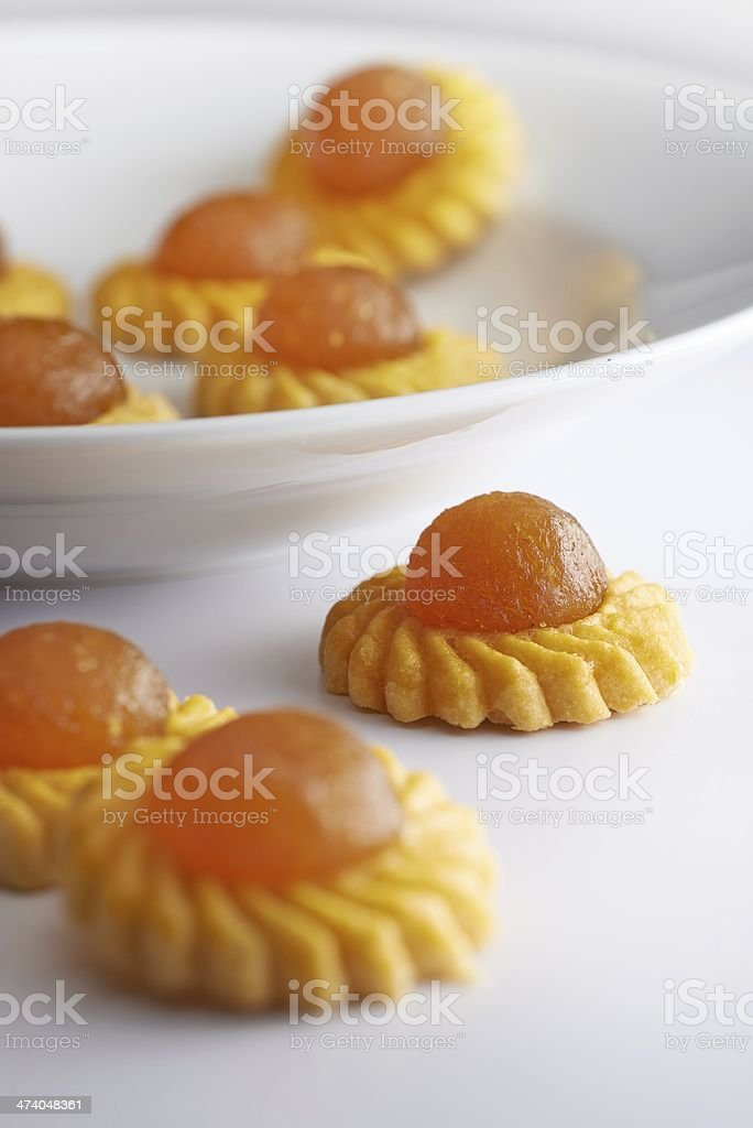 Traditional Chinese cookies apple tart stock photo