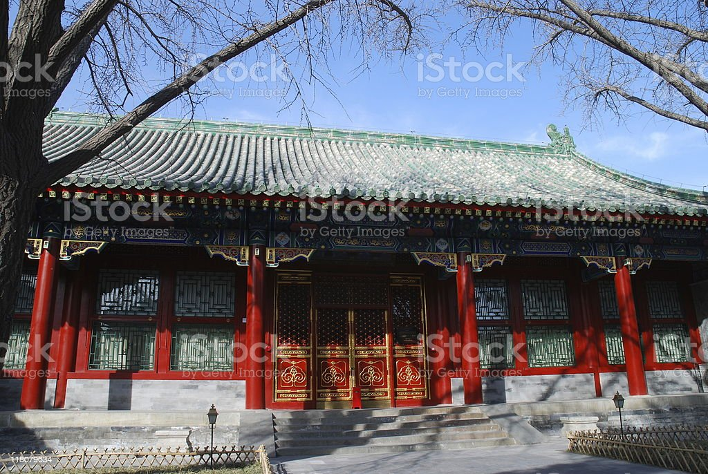 Traditional Chinese courtyard royalty-free stock photo