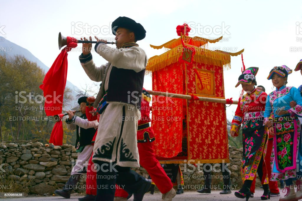 Traditional Chinese culture,sedan chair stock photo