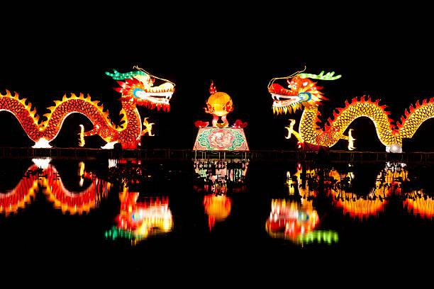 Traditioneller Chinesischer Drache lights – Foto