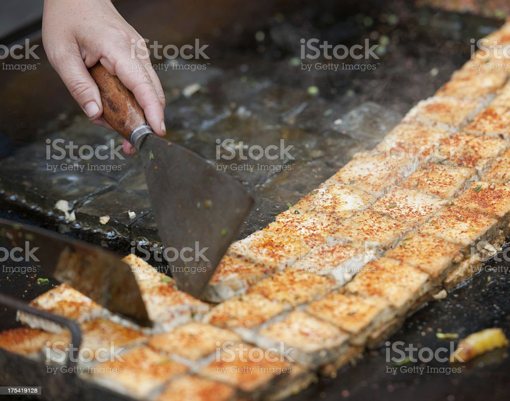 Traditional Chinese Fast Food, BBQ Street Market (XXXL) royalty-free stock photo