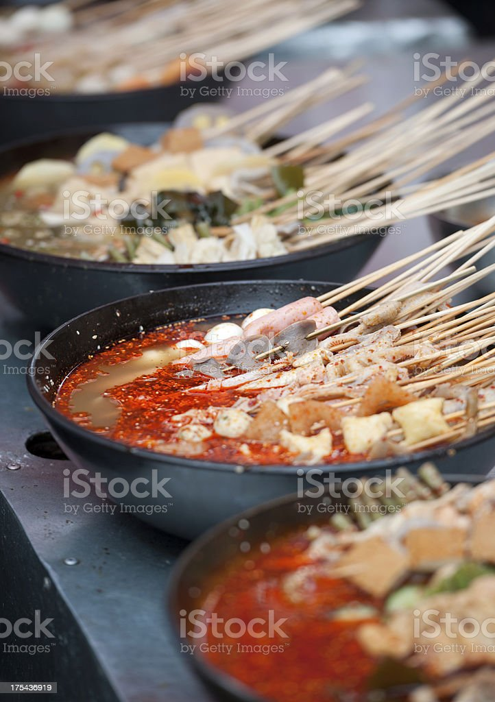 Traditional Chinese Fast Food, Street Market (XXXL) stock photo