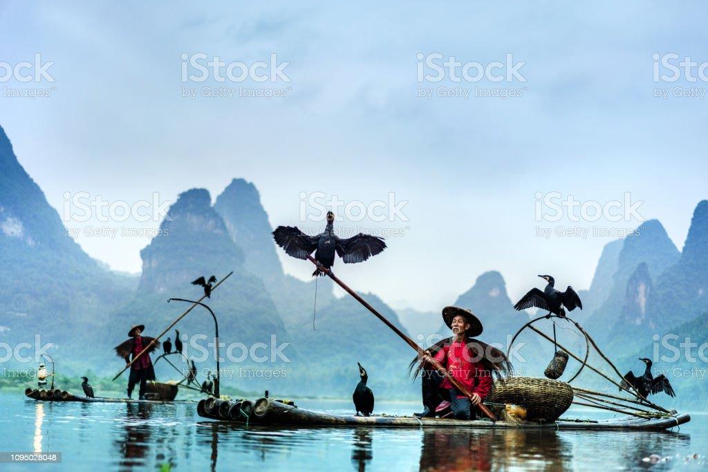 Traditionelle chinesische Fischer, Li-Fluss – Foto