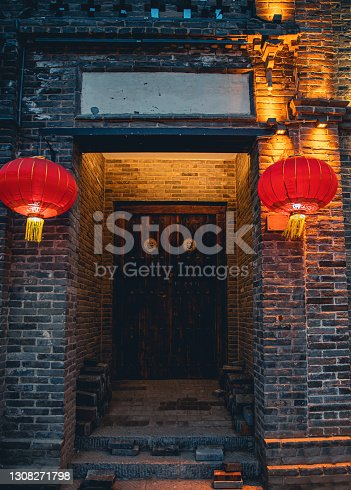Traditional Chinese Gate In Chinese New Year
