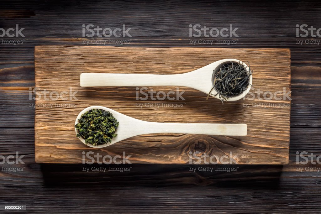 Traditional Chinese green tea of different fermentation and rice royalty-free stock photo