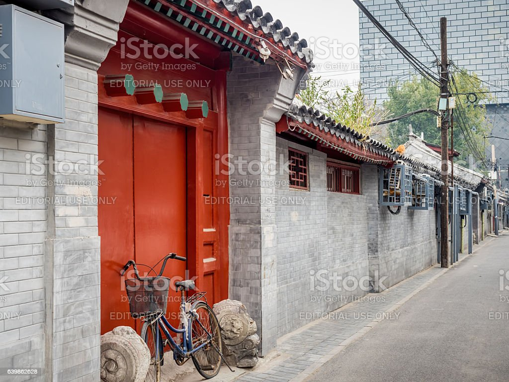 Traditional Chinese home entrance stock photo