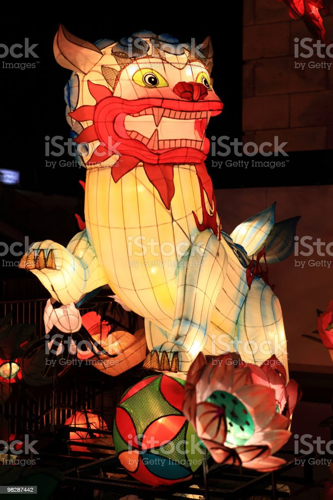 Lanterna cinese tradizionale foto stock royalty-free