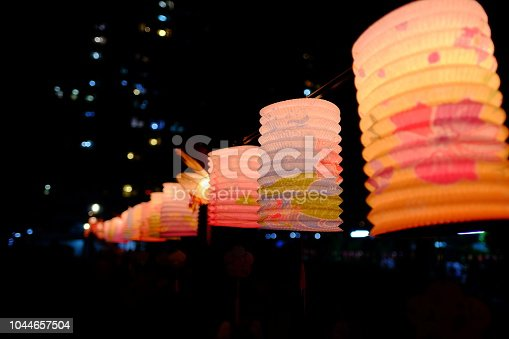 Traditional Chinese lanterns decoration in Mid-Autumn festival holiday