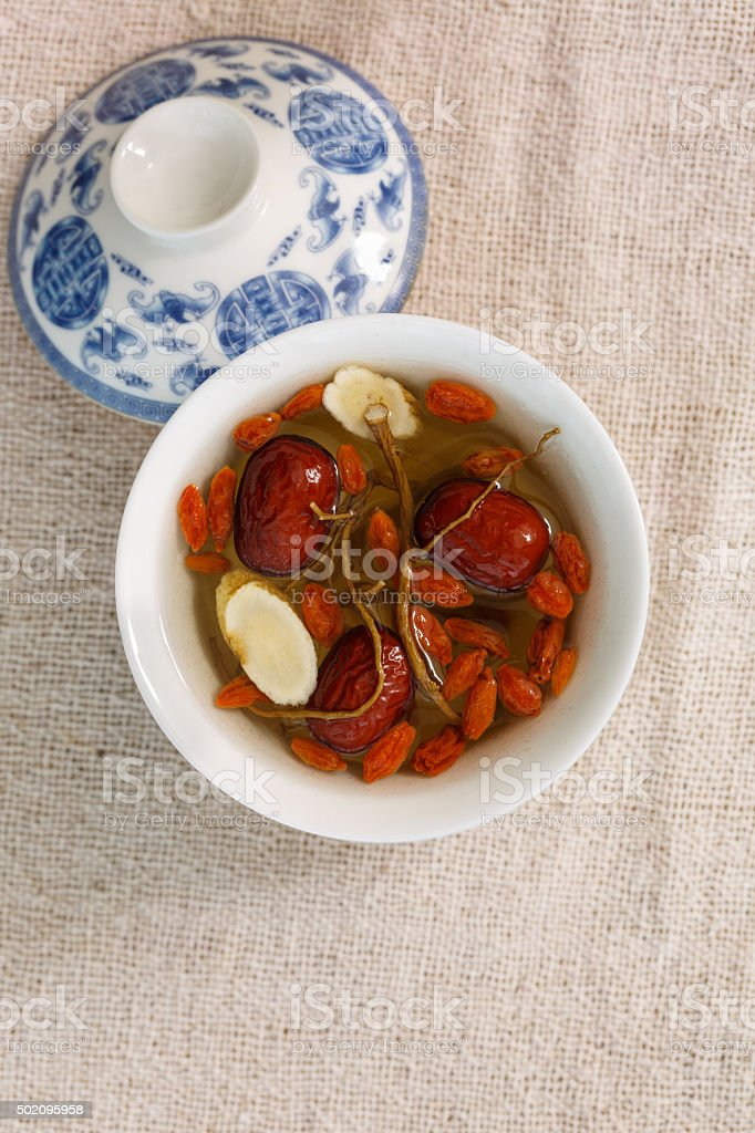 traditional Chinese medicine health tea stock photo