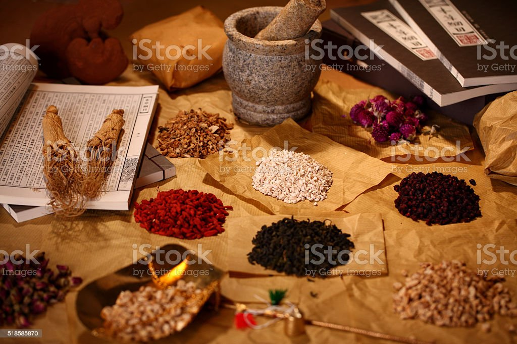 Traditional Chinese Medicine stock photo
