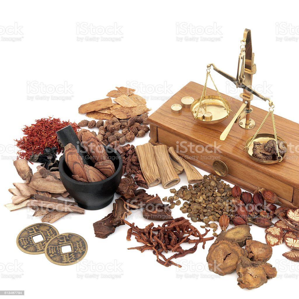 Traditional Chinese Medicine Selection stock photo