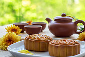 Moon Cake, Cake, China - East Asia, Chinese Script, Afternoon Tea, snack, dessert
