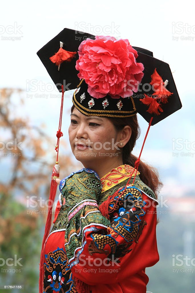 Traditionelle Chinesin stock photo