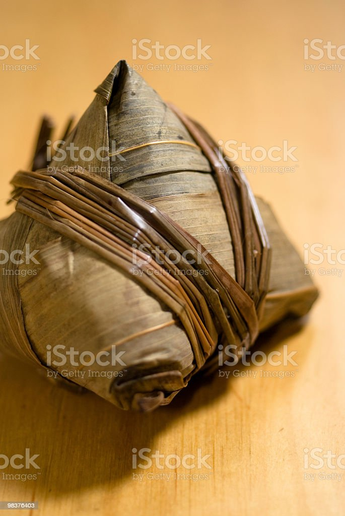 Traditional chinese rice dumpling royalty-free stock photo