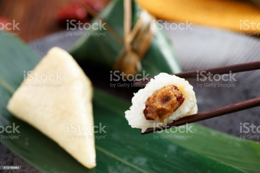Traditional Chinese rice-pudding stock photo
